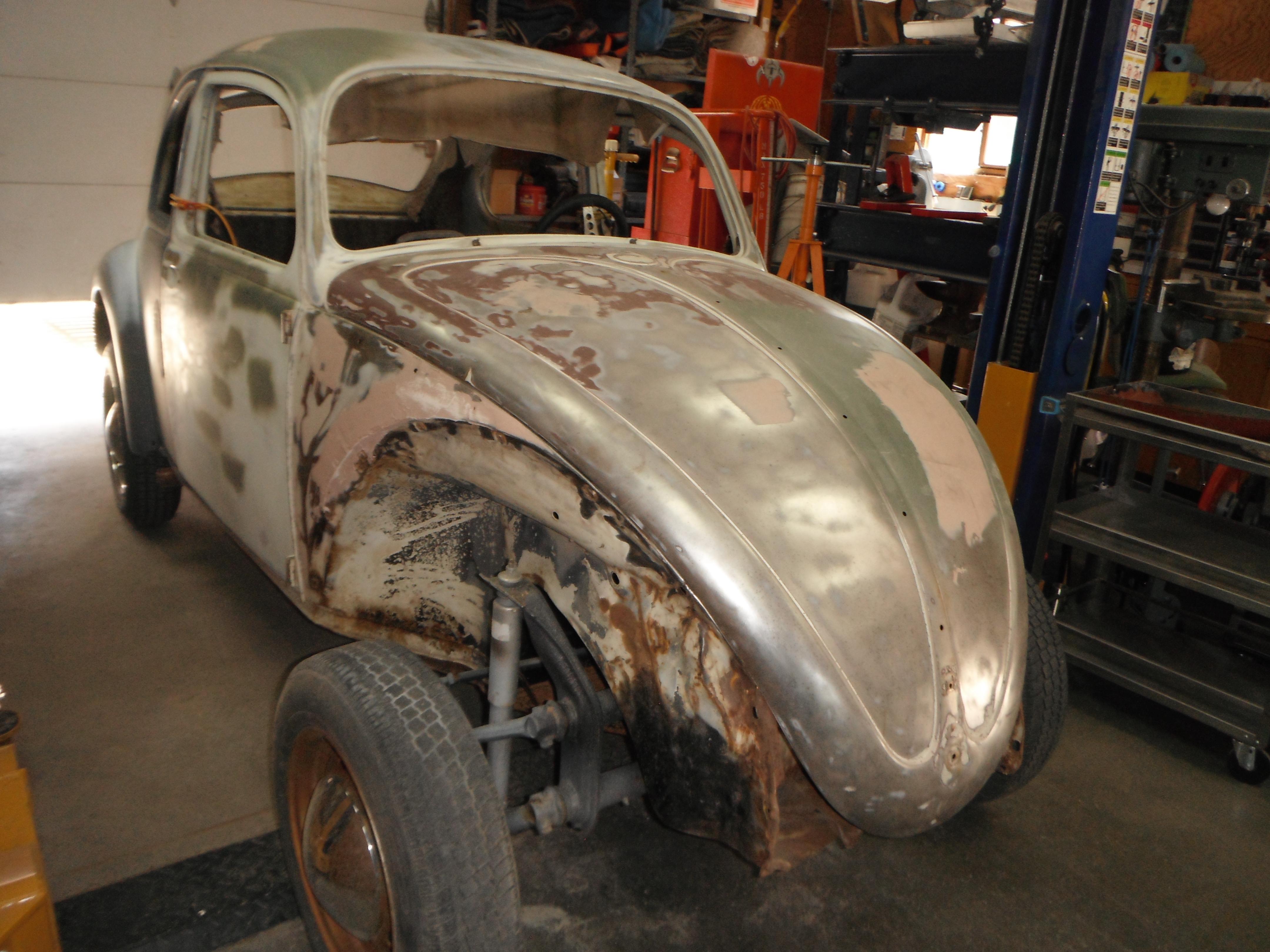 Bolt Nut Early Bug VW Bug Fender Weld-in Mount